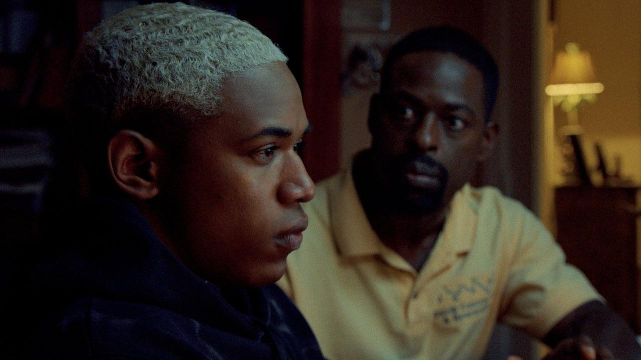 Kelvin Harrison Jr and Sterling K. Brown as Tyler and Ronald