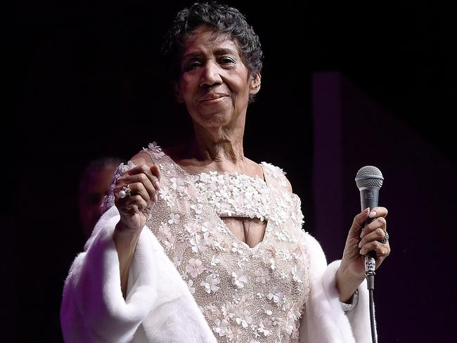 Aretha Franklin performs on stage at the Elton John AIDS Foundation event in November, 2017. Picture: Supplied