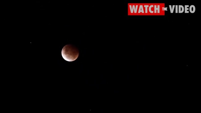 Super Blood Moon seen in the sky above Sydney
