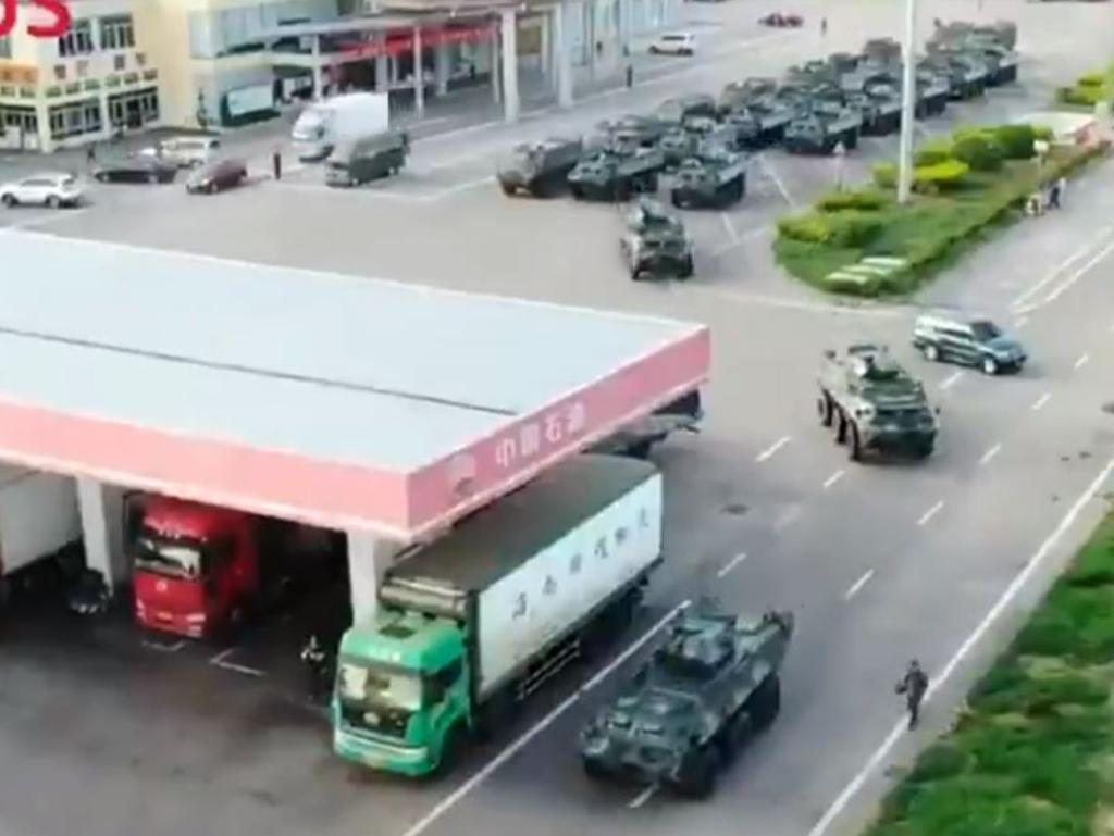 China's military on the move. Picture: Supplied
