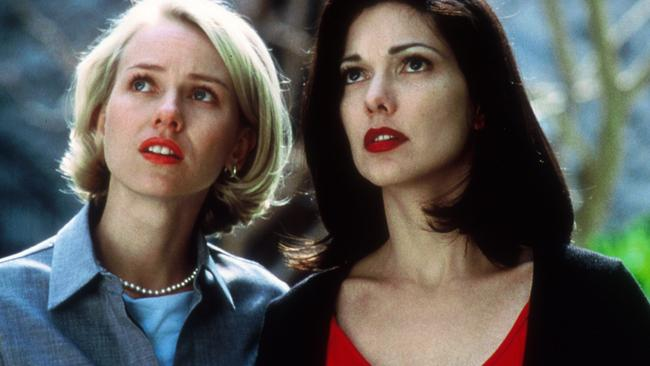 Naomi Watts and Laura Elena Harring in scene from Mulholland Drive.
