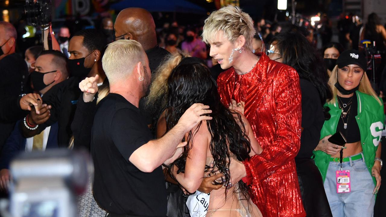 Things got heated on the red carpet. Picture: ANGELA WEISS / AFP
