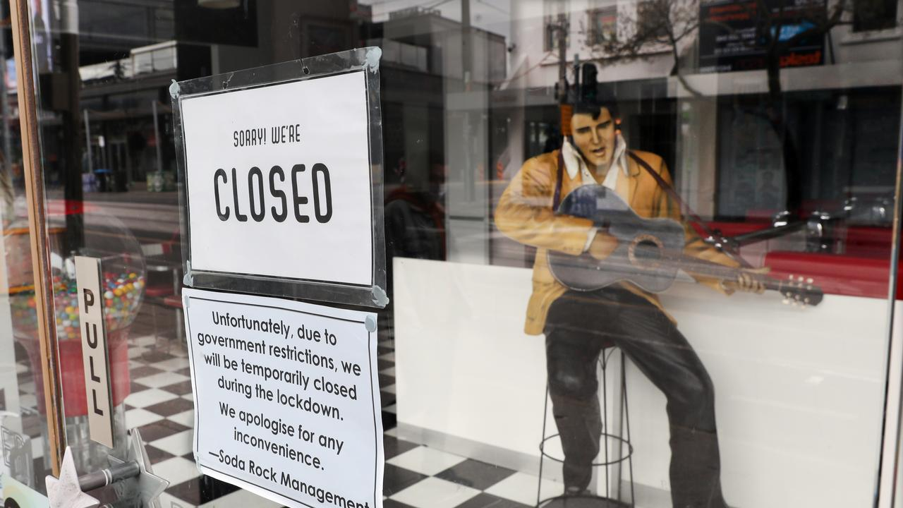 Some businesses have been closed for 219 days. Picture: NCA NewsWire / David Crosling