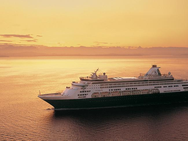 MAASDAM Between them, the Holland America Line trio (including Maasdam, pictured) will make 75 calls to ports around Australia.