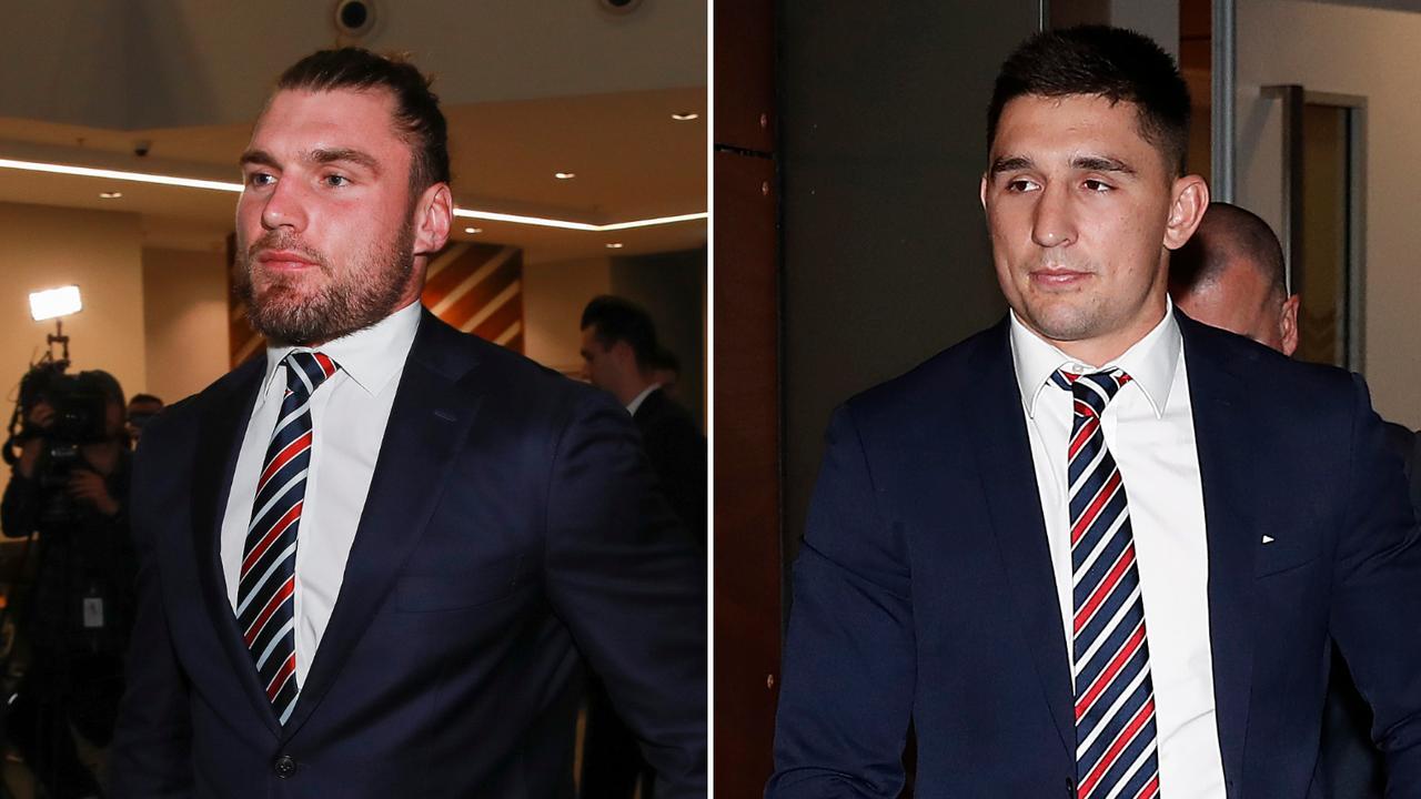 Angus Crichton and Victor Radley had no success at the NRL Judiciary on Tuesday.