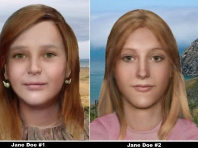After the remains were both revealed to be girls, artists from the National Center for Missing and Exploited Children released new impressions of the victims.