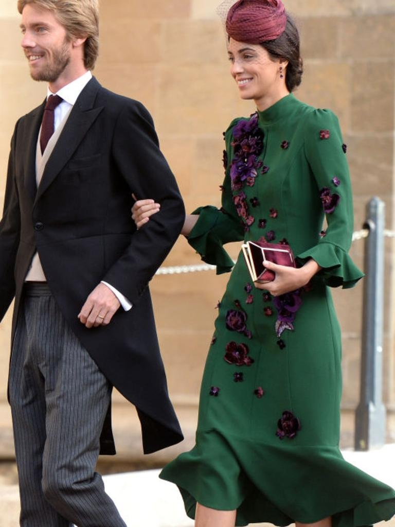 Alessandra de Osma in a very Kate-like green dress. Picture: Pool/Max Mumby/Getty Images.