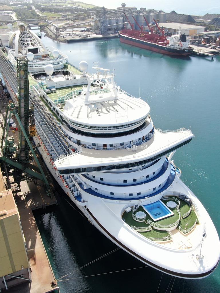 The Ruby docked at Port Kembla before her departure last week.