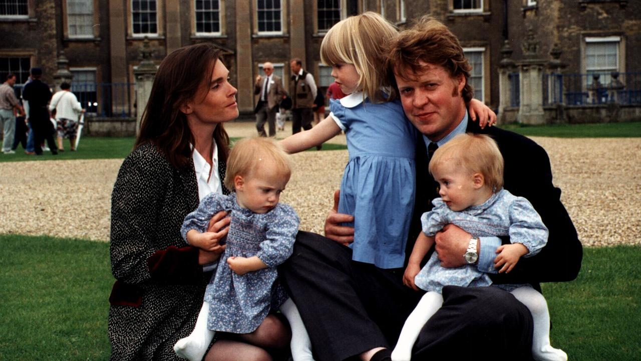 Charles, Earl of Spencer with his wife Victoria and the children in 1993.