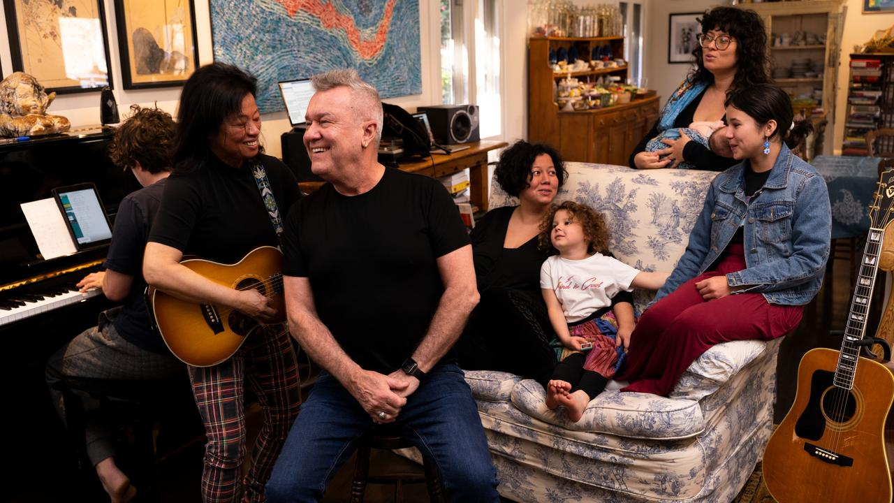 The new record features singing from Jane and daughters Mahalia, EJ and Elly May. Picture: Ben Rodgers