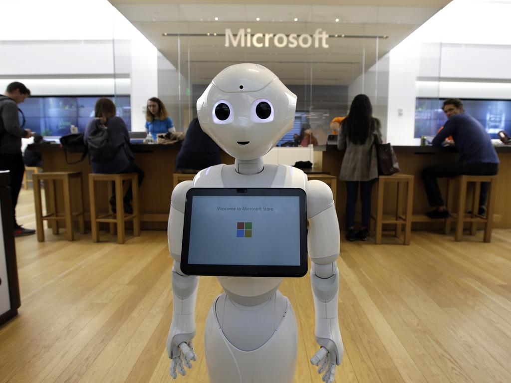"""Microsoft has experienced a """"blow out"""" quarter with share values outstripping even Apple. Picture: AP Photo/Steven Senne, File"""