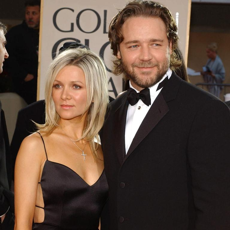 Danielle Spencer with then boyfriend Russell Crowe at the 2002 Golden Globes.