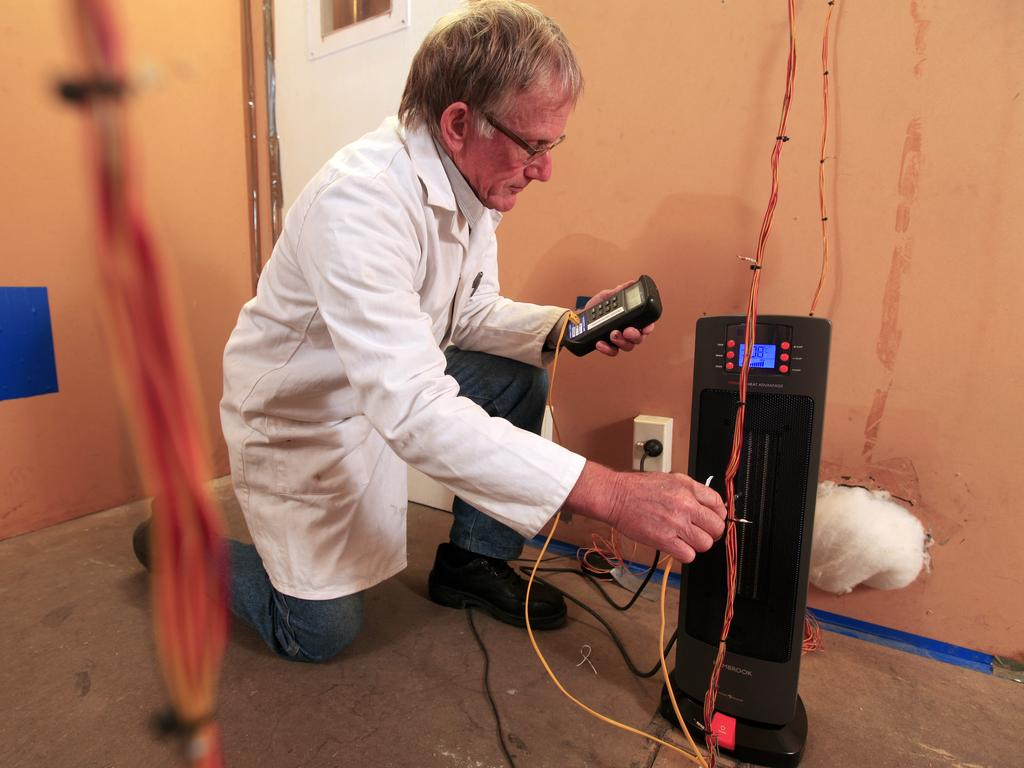 Choice testers use a controlled room to test all their heaters in.