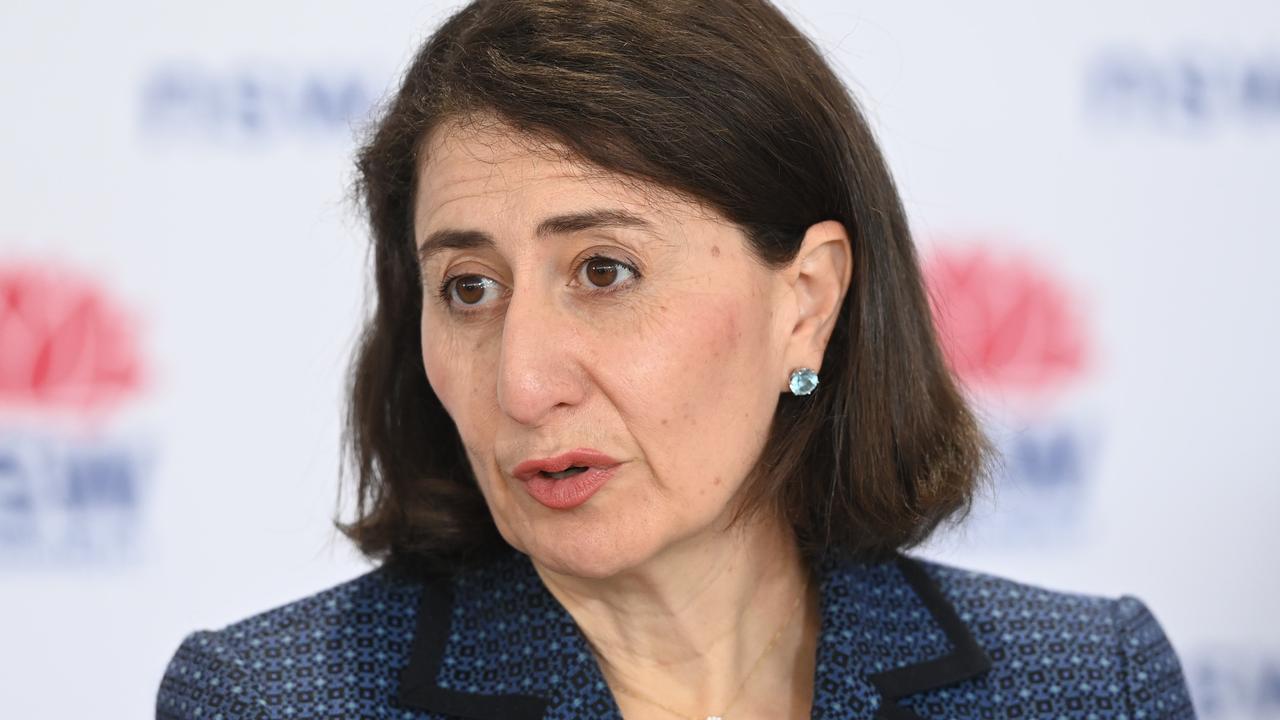 NSW Premier Gladys Berejiklian provides an update on Covid-19. Picture: NCA NewsWire/Jeremy Piper