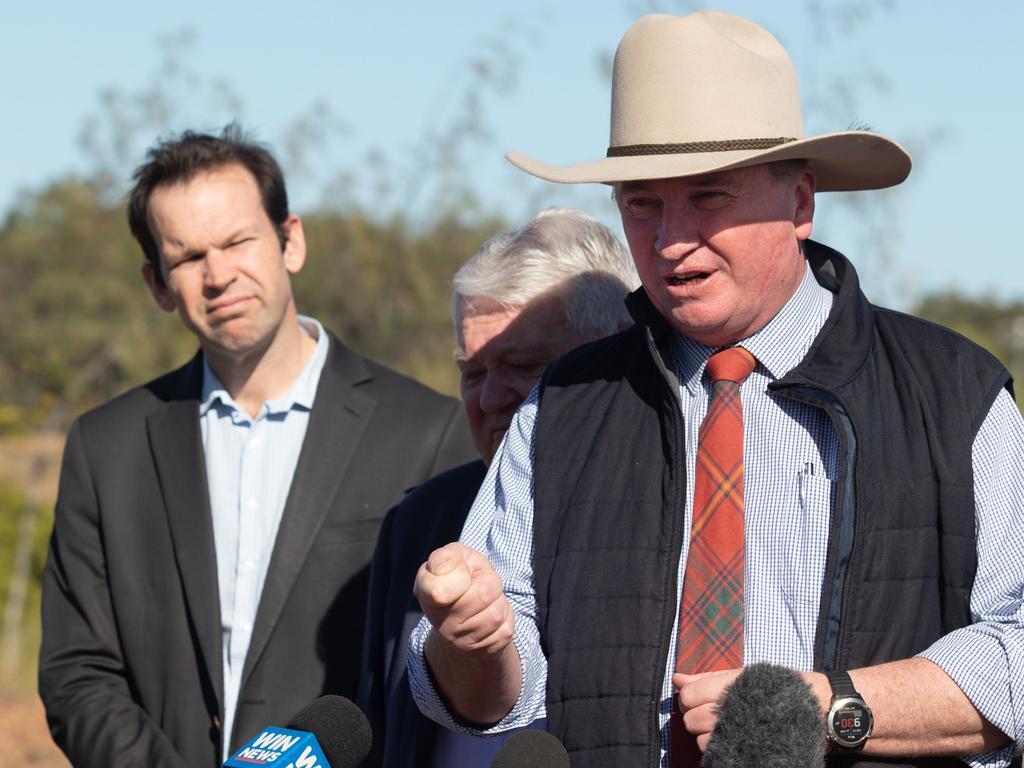 Nationals Senator Matt Canavan said he was 'dead set against' the net-zero emissions target.