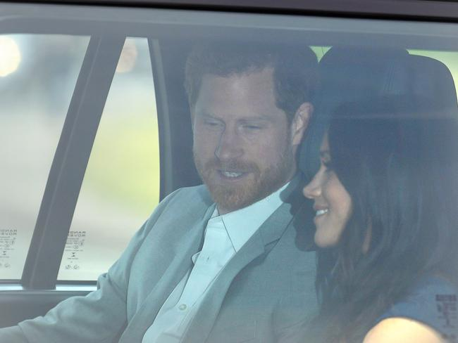 They will spend Friday night apart before the wedding on Saturday at St George's Chapel. Picture: Mega.
