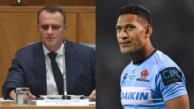Liberal MP defends Israel Folau's right to air his views (ABC)