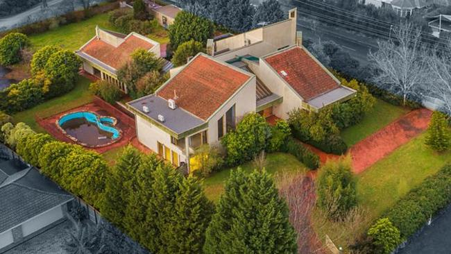 The view from above 6 Beavis Court, Templestowe — which sold for $2.7 million.
