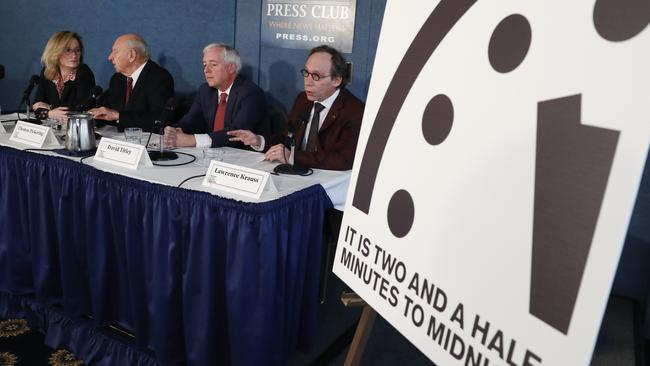 A team of scientists has moved the symbolic Doomsday Clock in an ominous direction. Picture: Carolyn Kaster.
