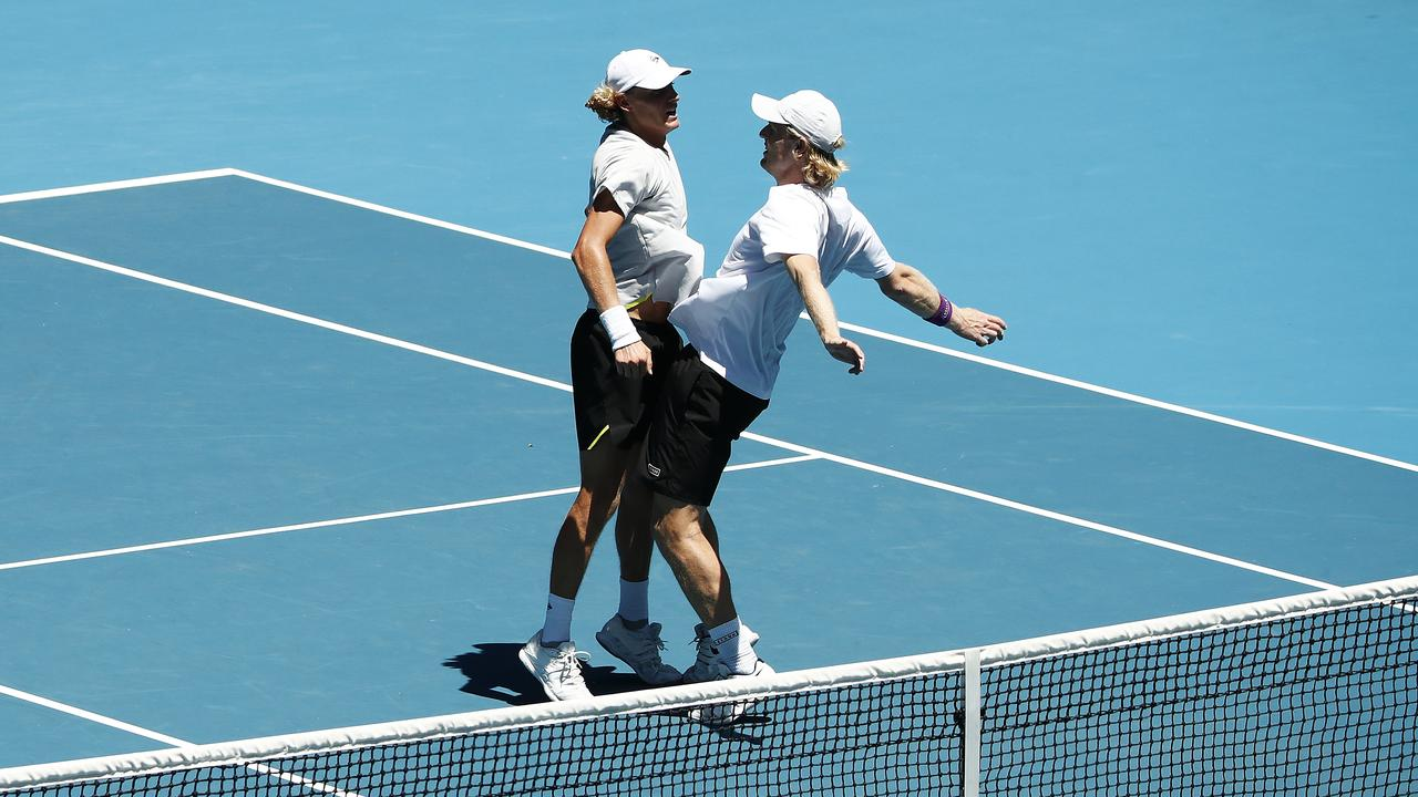 Max Purcell and Luke Saville are through to the men's doubles final.