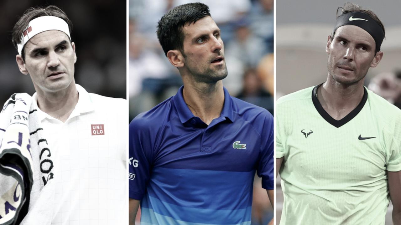 Roger Federer, Novak Djokovic and Rafael Nadal.