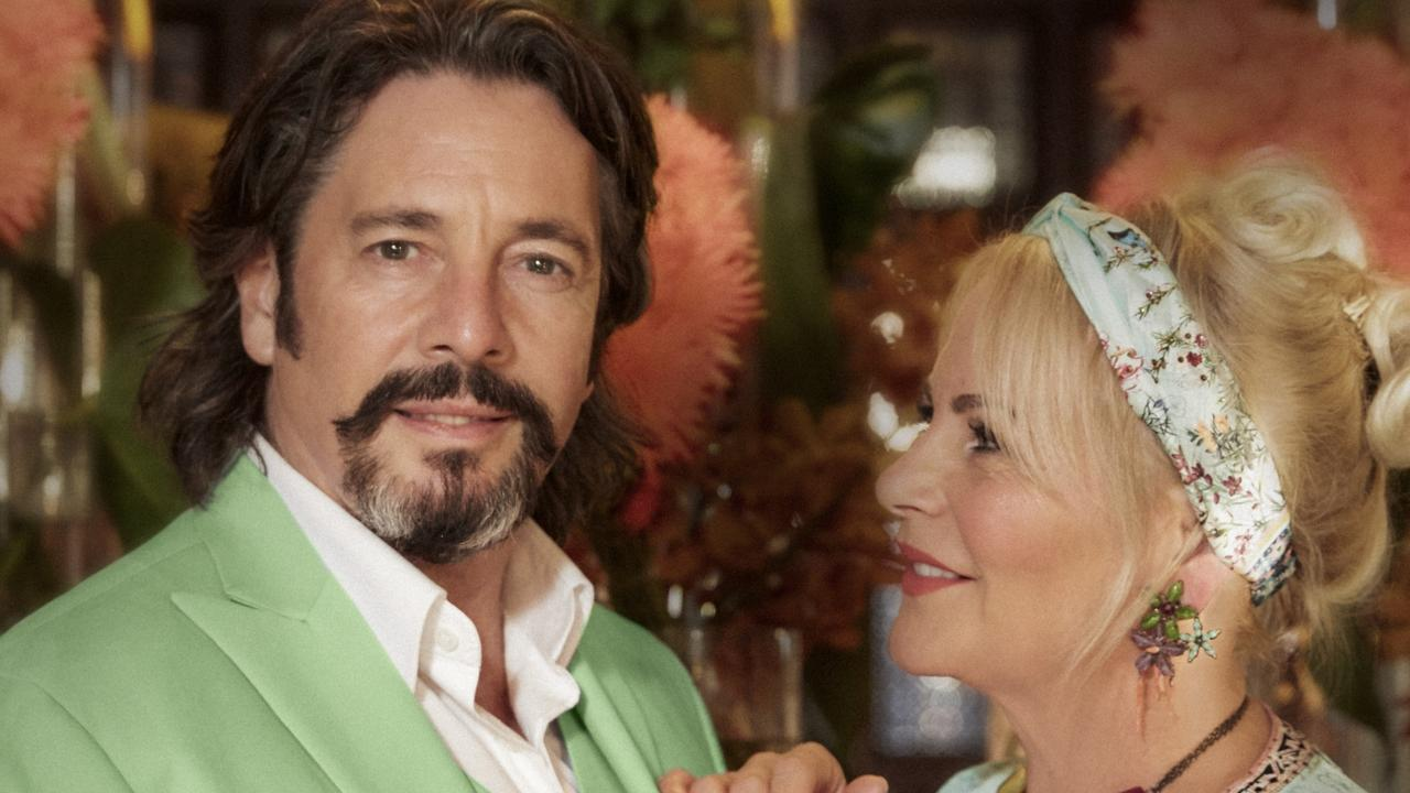 Laurence Llewelyn-Bowen with his wife, Jackie, at Sofitel Legend Old Cataract hotel in Aswan, Egypt. Picture: Steve Thorp