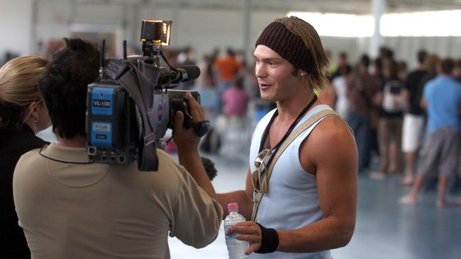 Jamie at the Big Brother auditions in Perth.