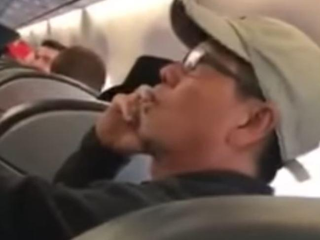 Video captured moments before United Airlines passenger David Dao was dragged from a flight. Picture: Joya Griffin Cummings/Storyful