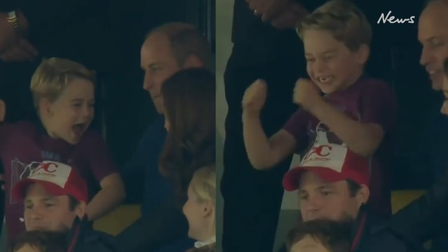 Prince George has the time of his life at the football