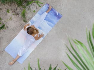 Swap your yoga mat for an eco-friendly one. Image: Yoga Design Lab.