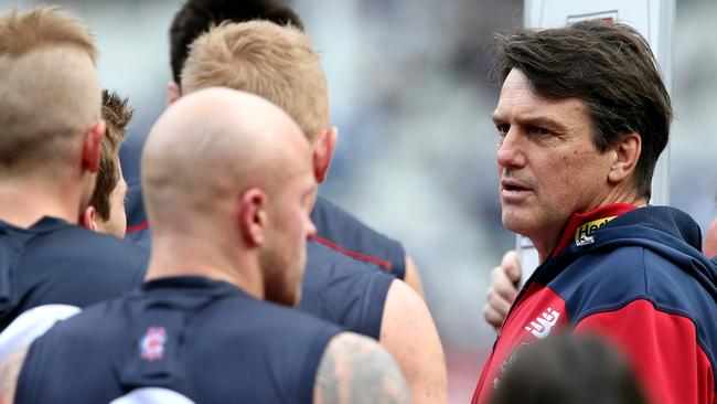 Paul Roos tries to get his message through. Picture: Wayne Ludbey