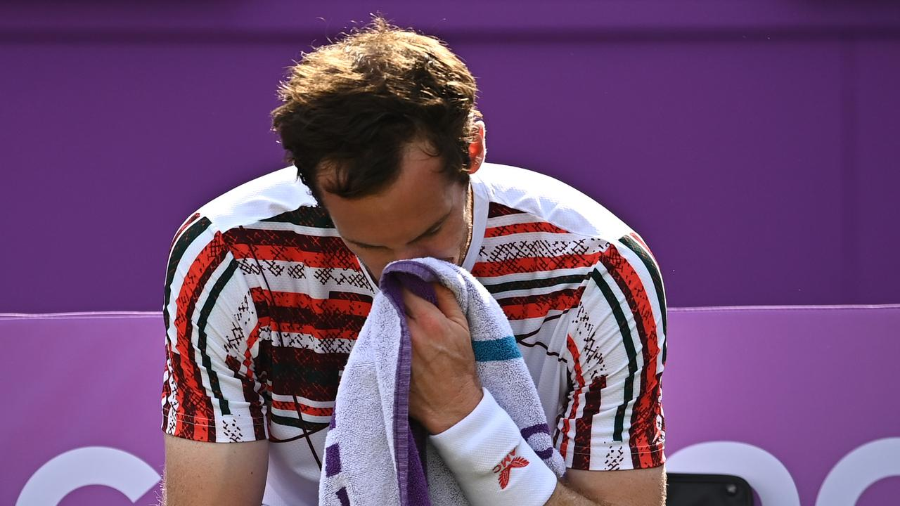 An emotional Andy Murray made a winning return to action on Tuesday.