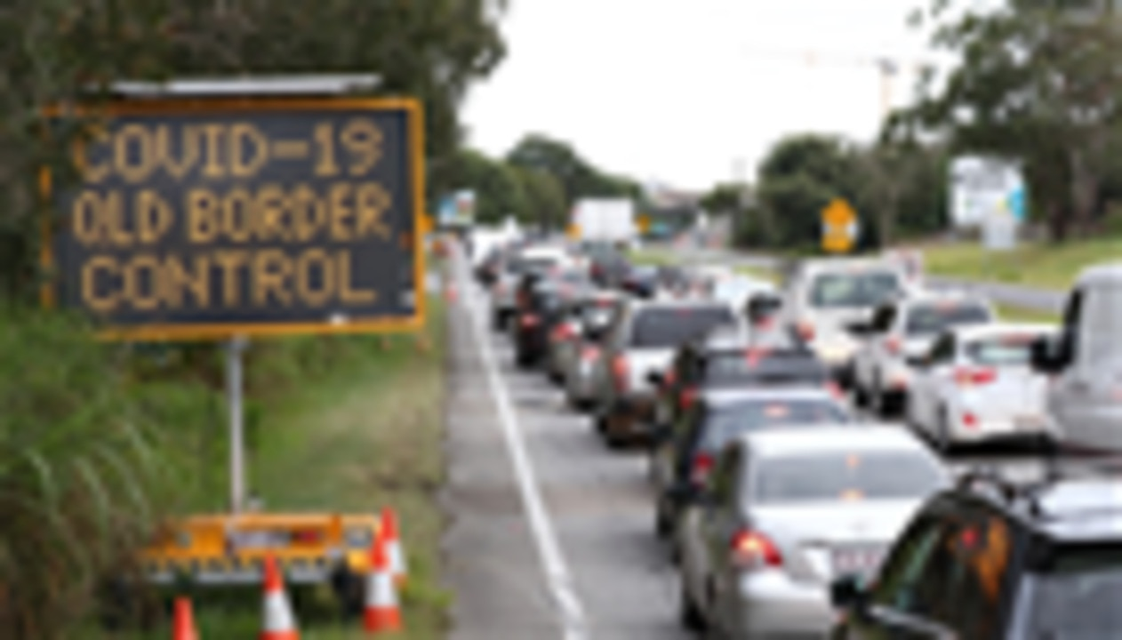 Race to enter Queensland before border shuts at 1am tomorrow