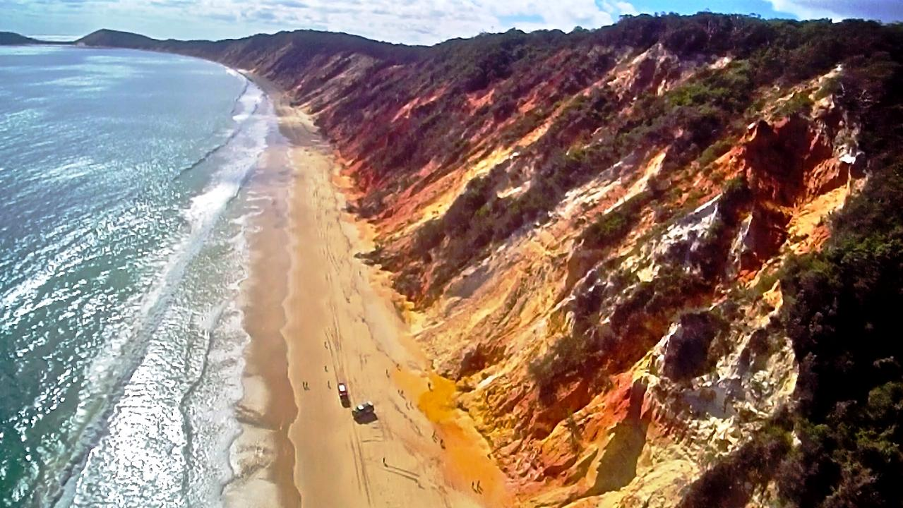 The spectacular coastline of Rainbow Beach. Picture: Supplied / Gympie Tourism