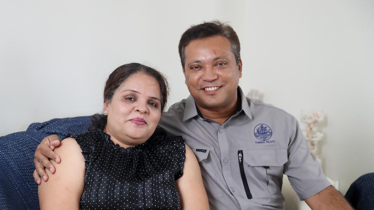 Ritesh Bhamaria with his wife Rashmi. Picture: Stewart McLean