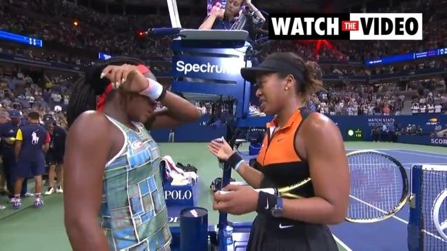 Naomi Osaka comforts Coco Gauff after US Open clash