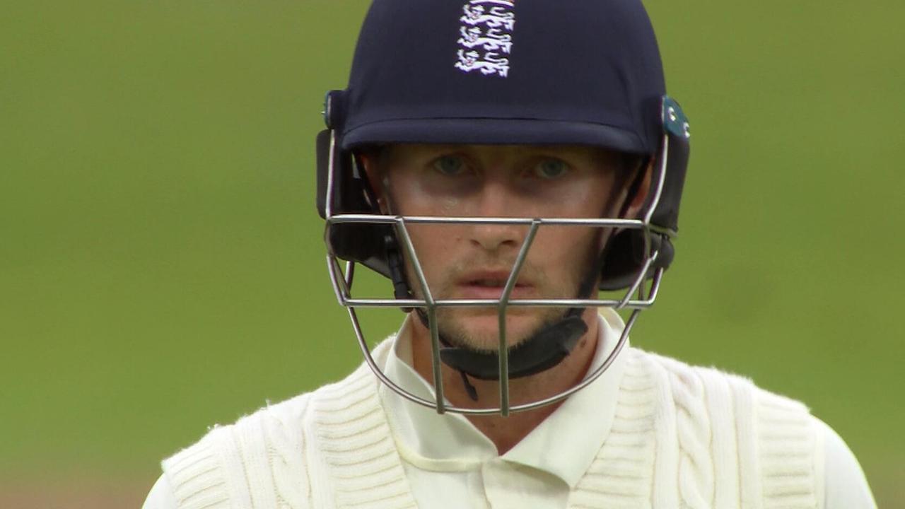 Joe Root was visibly infuriated by a controversial call in the Test v India on Sunday night.