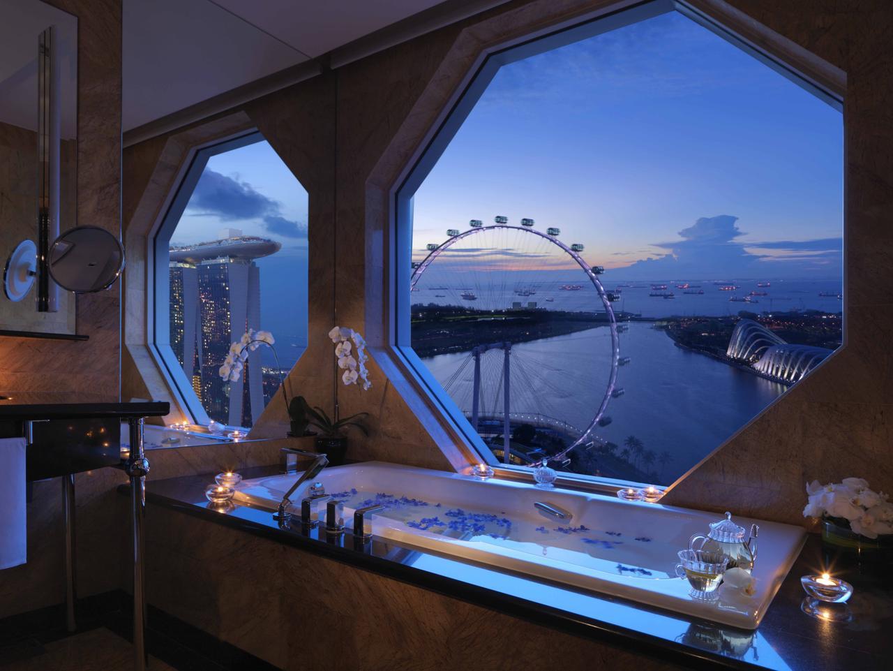 Premier Suite bathroom, Ritz-Carlton, Millenia Singapore. Picture supplied by hotel for Sunday Escape