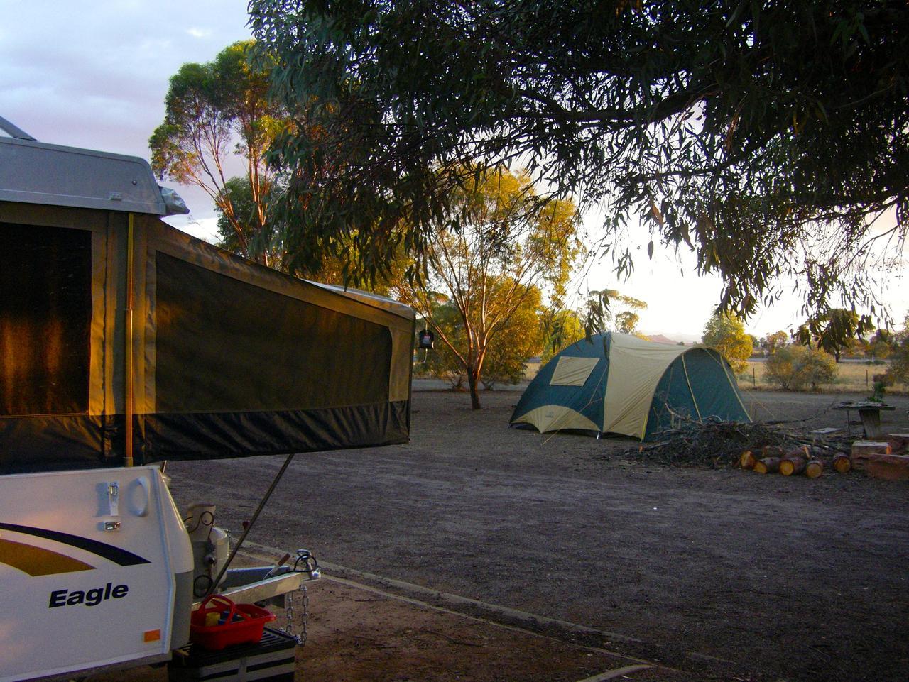Sunrise over our campsite.