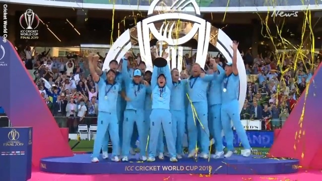 Cricket World Cup: England's spectacular victory celebrations