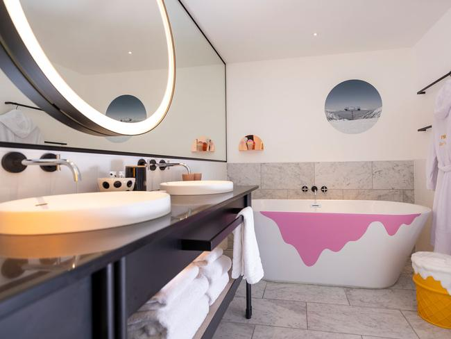 Did we mention the ice cream bathtub?