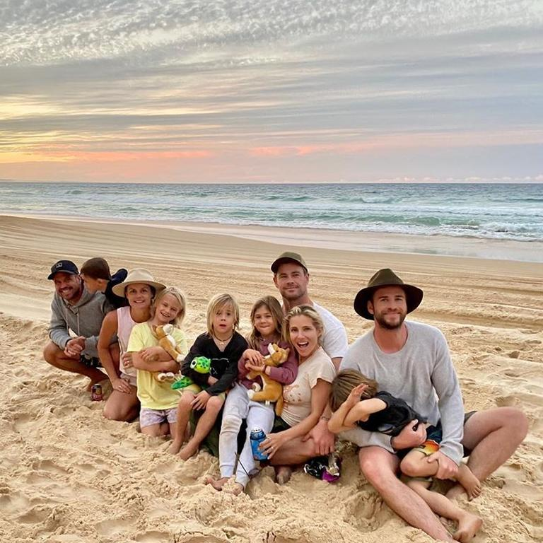 The Hemsworths and friends on holiday.