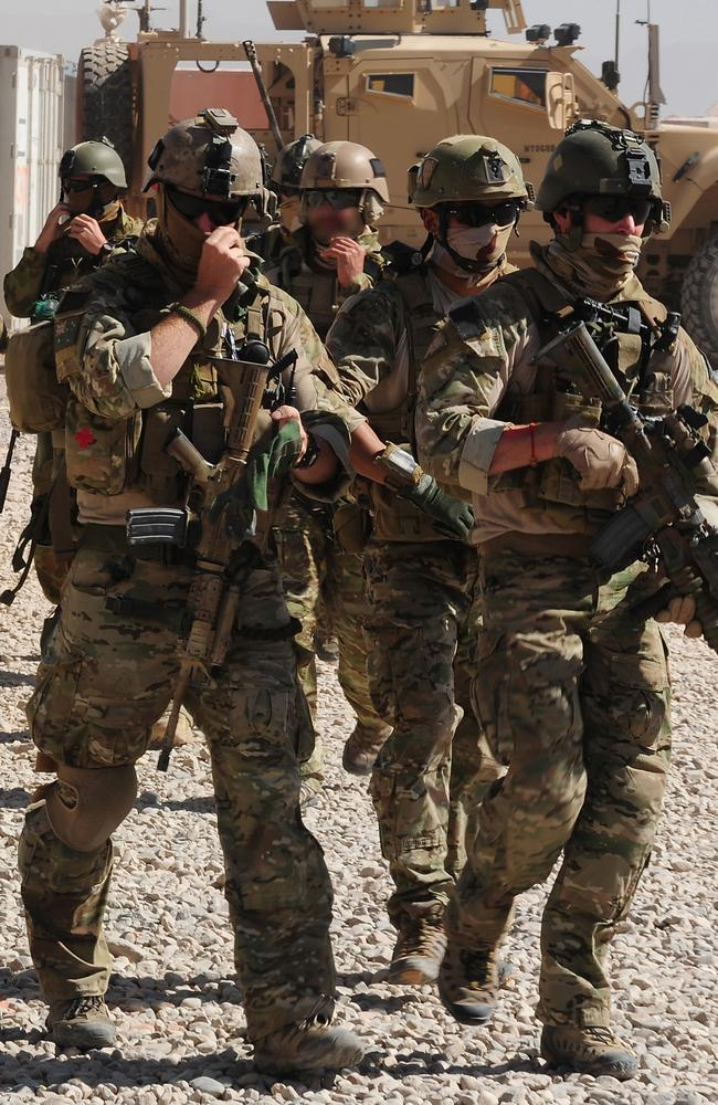 Australian special operation soldiers on deployment in Afghanistan. Picture: Department of Defence