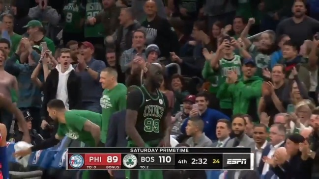Tacko Fall checks in against the 76ers (ESPN)