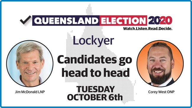 Replay - Lockyer debate: Candidates go head-to-head ahead of 2020 QLD election
