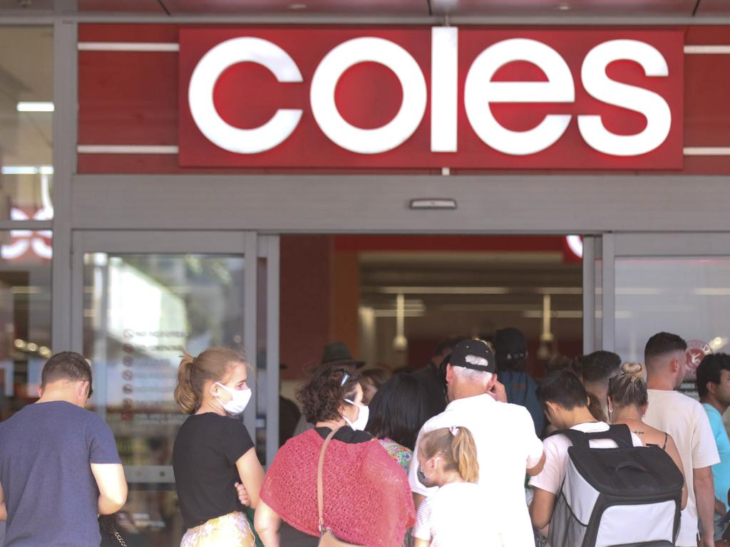 Coles came second behind Woolworths in a public survey on Australia's most trusted brands. Picture: Glenn Campbell