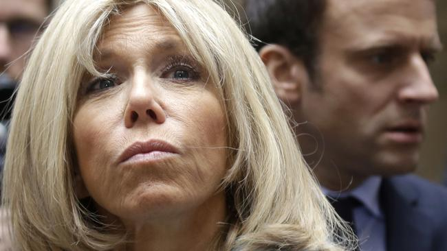 """Mrs Trogneux, a grandmother of seven, has been her husband's """"mentor and inspiration."""" Picture: AP"""