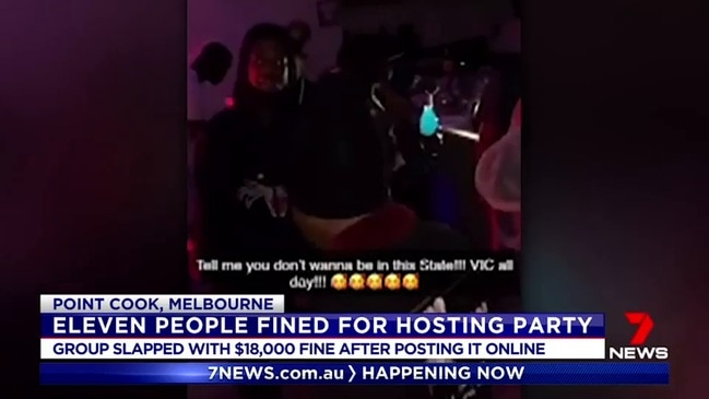Victorians fined $18k for unlawful party (7 News)