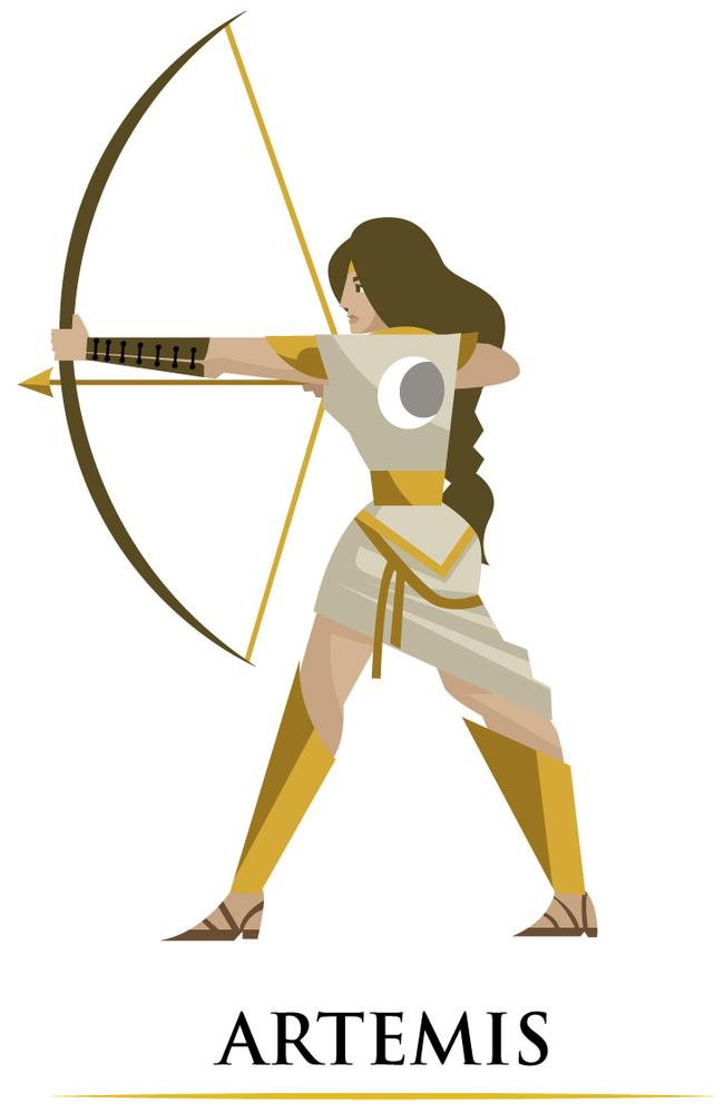 Artemis, the goddess of the hunt