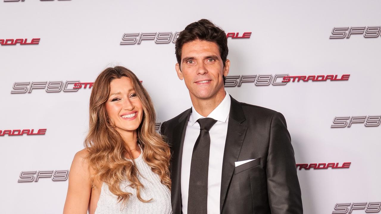 Mark Philippoussis with wife Silvana.